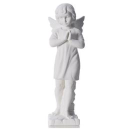 Engelchen verbundene Hände, weisser marmor von Carrara