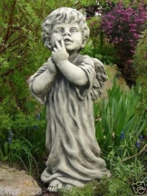 Gartenfigur Engel ZECHIEL Steinguss Gartendeko Deko Grabdekoration Steinfigur
