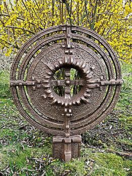 Grabkreuz Wegekreuz 40Kg Bronze massiv rund Kreuz Gedenkkreuz