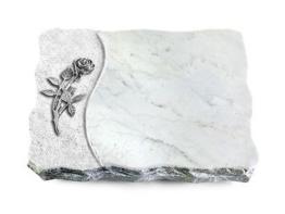 Grabplatte, Grabstein, Grabmal,  Granit: Marmor ca. 40x30x5 cm