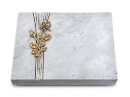 Grabtafel, Grabplatte, Grabstein, Grabmal, Marmor, ca. 40x30x5cm