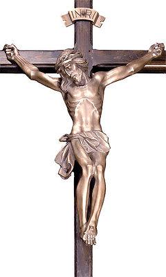 Großer Bronze Christus, Feldkreuz, Grabkreuz, Wegkreuz, NEU
