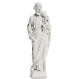 Heiliger Joseph Marmorpulver Statue