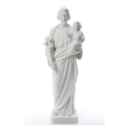 Heiliger Joseph Marmorpulver Statue Weiß