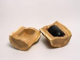 Holzurne aus einem Baumstamm Urne B 130