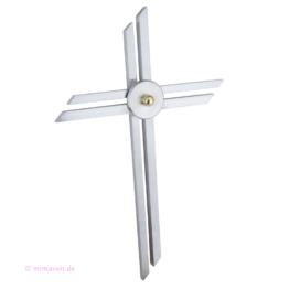 Kreuz Metall Handgearbeitetes Edelstahl Wandkreuz Metallkreuz Kunst