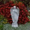 Massiver großer Stein Engel mit Flügel Steinguss frostfest Raumdeko Grabdeko