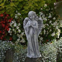Schöner Stein Engel Engelfigur Grabdeko Gartendeko aus Steinguss frostfest