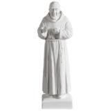 Statue Pater Pio 40 cm Kunstmarmor Weiß