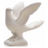 Taube offene Flügel 25 cm, Marmor