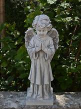 Top Modell! Massive große Steinfigur Engel stehend Grabdeko Steinguss frostfest