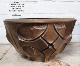 TOP Schale Grabschale Massiv Bronze Übertopf Blumentopf Grabschmuck Muster NEU