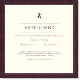 Trauer Dankeskarten / Danksagungskarten Trauer | Gratis Musterkarten und Versand