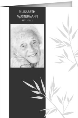 Trauerkarte Anneliese (Klappkarten DIN A6 hoch)
