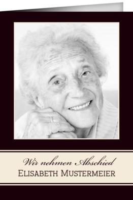 Trauerkarte Beatrice (Klappkarten DIN A5 hoch)