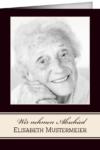 Trauerkarte Beatrice (Klappkarten DIN A6 hoch)