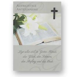 Trauerkarte Beileidskarte zum Kondolieren mit weißen Briefumschlag Kondolenzkart