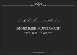Trauerkarte Royal (Postkarten DIN A5 quer)