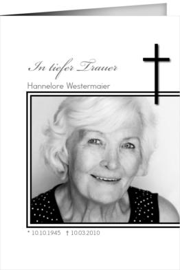 Trauerkarte Thea (Klappkarten DIN A5 hoch)