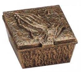 Weihwasserbecken bronzefarbig 14 x 12 x 6,5 cm