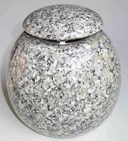 Weihwasserkessel Kugel Granit Schlesisch Weihwasserbehälter Grabschmuck Grabmal