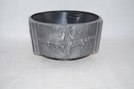 Grabschale aus Aluminium Strassacker 54370 35 cm, Pflanzschale
