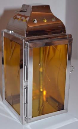 Grablampenglas Ersatzglas nach Maß Muster 1 gelb Glas Grablampe Grablaterne