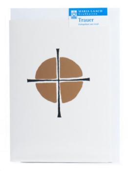 Karte zur Trauer - Kondolenzkreuz