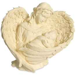 Statue Engel der Mutterliebe beige 17 cm Statuette Engelstatue