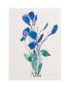 Trauerkarte - Blauer Strauß