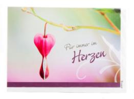 Trauerkarte - Für immer im Herzen