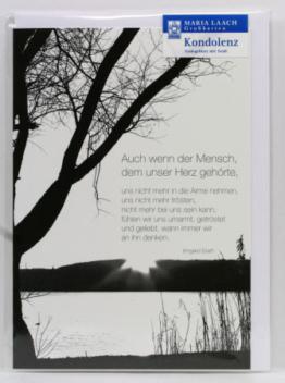 Trauerkarte - Getröstet & Geliebt