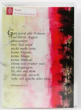Trauerkarte - Gott, der Tränen trocknet