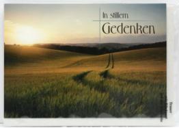 Trauerkarte - In stillem Gedenken & Feldweg