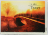 Trauerkarte - In stiller Trauer & Brücke