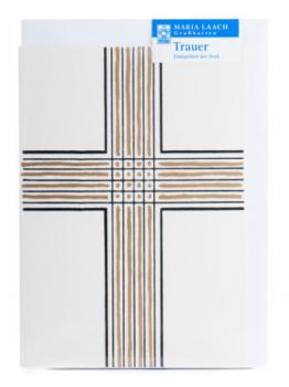 Trauerkarte - Kondolenzkreuz & Länglich
