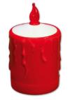 Heitronic LED Außen Dekoleuchte Grablicht Flamme LED, Rot/weiß, Kunststoff, Bewegungsmelder, 36349