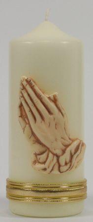 Tischkerze - Betende Hände
