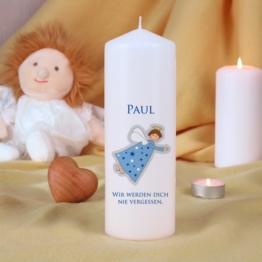 Trauerkerze für Kinder - Blau