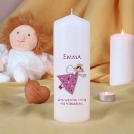 Trauerkerze für Kinder - Rosa
