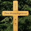 Grabkreuz, Holzkreuz, Übergangskreuz inkl.edler Gravur Beschriftung 100x50cm