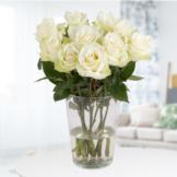 10 Weiße Rosen