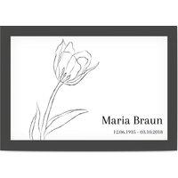 Dankeskarten Trauer, glänzendes feinstpapier, standard umschläge gestalten, blackflowers, Zeichnen, Blumen, schwarz, black, A6, flach, Optimalprint