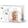 Trauerdanksagungen, glänzendes feinstpapier, standard umschläge gestalten, Fotokarte (1 Foto), grün, rosa, weiß, A6, klappkarte, Optimalprint