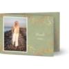 Trauerdanksagungen, seidenmattes feinstpapier, standard umschläge, kupferfolie gestalten, Fotokarte (1 Foto), grün, A6, klappkarte, Optimalprint