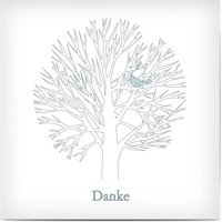 Trauerkarten Danke, glänzendes feinstpapier, standard umschläge gestalten, Baum, grau, quadratisch, flach, Optimalprint