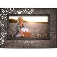 Trauerkarten Danke, glänzendes feinstpapier, standard umschläge gestalten, Fotokarte (1 Foto), Holz, grau, rustikal, A6, flach, Optimalprint