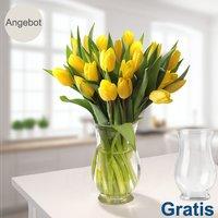 20 gelbe Tulpen im Bund