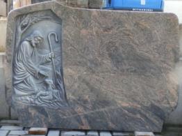 """Grabstein """"Guter Hirte"""" Poliert Doppelgrab Doppelgrabstein Grabmal"""