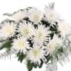 10 weiße Deko-Federchrsysanthemen